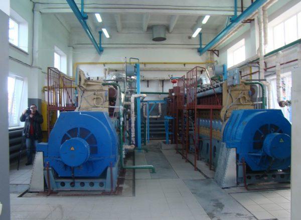 КГУ на базе 2-х ДвГА-630 в приспособленном помещении бывшего теплопункта